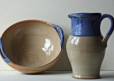 Wattlefield Pottery - Andrea Young - Bowl [with handles] and jug