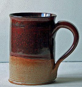 Wattlefield Pottery - Andrea Young - Large Mug  - for - Ale  - Tea - Coffee