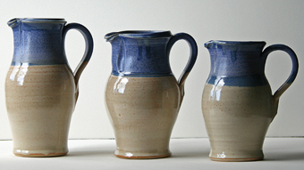 Wattlefield Pottery - Andrea Young - Three Jugs