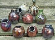 Wattlefield Pottery Raku Pots