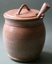 Wattlefield Pottery Honey pot with dibber