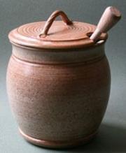 Wattlefield Pottery Honey pot with dibber