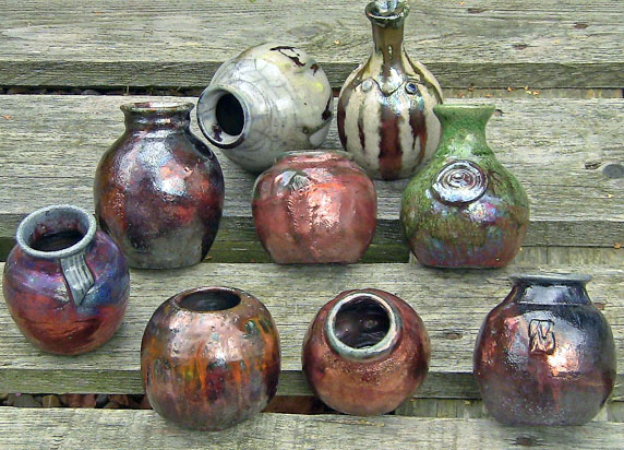 Raku Pottery by Andrea Young.